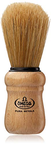 William Marvy Co. No. 5 - Omega Wood Handle Shaving Brush
