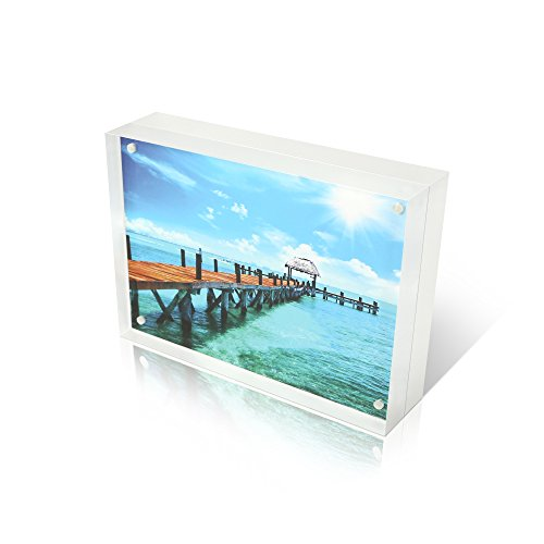 Premium Shoppe 4X6 Double Sided Picture Frame - Magnetic Cle
