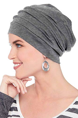 - Headcovers Unlimited Slouchy Snood-Caps for Women with Chemo Cancer Hair Loss Charcoal Heather
