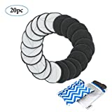 Reusable Makeup Remover Pads 20 Pack w/Laundry Bag & BONUS Travel Bag | 2-Sided Bamboo Charcoal + Bamboo Cotton | Replace Disposable Cotton Rounds | Chemical-free, Natural, Soft, Face and Skin Care
