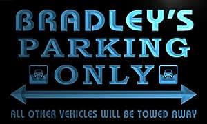 qo1181-b Bradley's Family PARKING ONLY Car Bar Beer Neon Light Sign