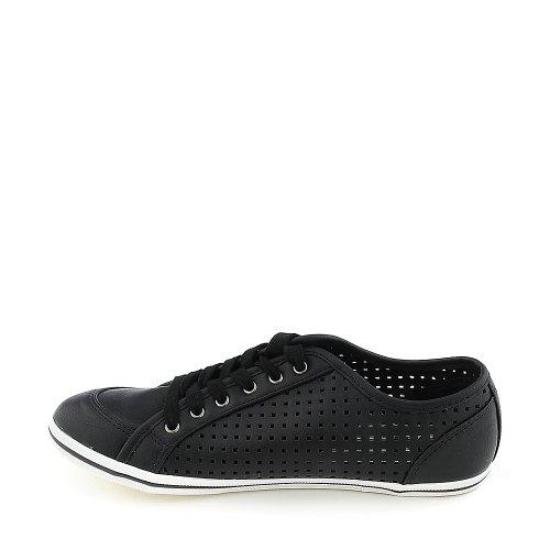 Shiekh Womens Laser-01 Casual Sneaker Noir