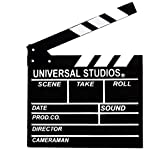 Movie Film Clap Board, Hollywood Clapper Board Wooden Film Movie Clapboard Accessory with Black & White, 11.7\