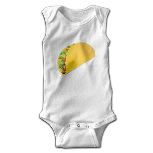 XiShuangJi Mexican Taco Clipart Newborn Infant Baby Boys Girls Romper Baby Bodysuits Outfit Sleeveless Jumpsuit Onesies ()