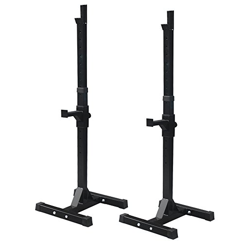 Zeny-Set-of-2-Adjustable-Standard-Solid-Steel-Squat-Stands-Gym-Barbell-Rack-Free-Bench-Press-Stands-1