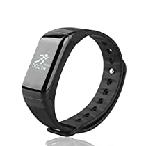 TechComm YX7 Water Resistance Fitness Tracker with Heart Rate Monitor, SMS, Call For Android & IOS