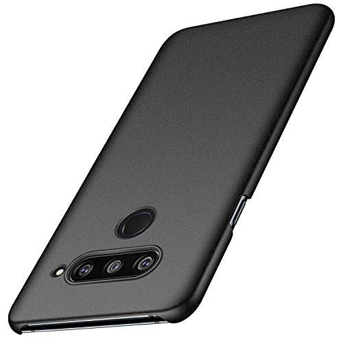 kqimi Slim Fit LG V40 ThinQ Case [Ultra-Thin] Premium Material Slim Full Protection Cover for LG V40 ThinQ (6.2 inch) 2018 (Gravel Black)