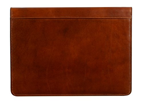 Leather Portfolio Document Folder Handcrafted Case Brown Time Resistance