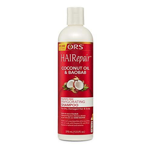 ORS HAIRepair Coconut Oil & Baobab Sulfate-Free Invigorating Shampoo, 12.5 Ounce