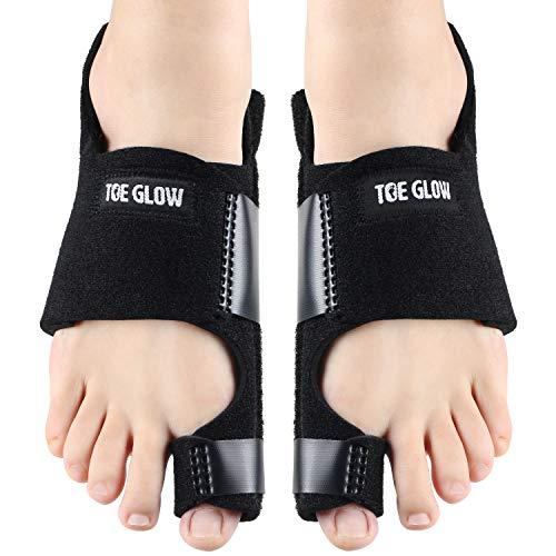 Bunion Corrector Bunion Pain Relief - Bunion Splints Big Toe Straightener for Hallux Valgus Aid Surgery Fits for Men & Women by Toe Glow