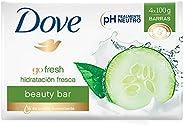DOVE Jabón de tocador go fresh hidratación fresca 4 barras de 100 g c/u