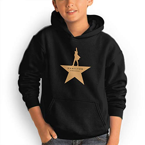Youth Hoodie Hamilton an American Musica 100% Cotton Casual Long Sleeve Sweatshirt Pullover with Pockets for Boys and Girls