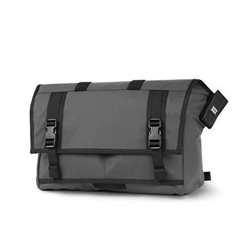 Mission Workshop Rummy 27L (1,650 cu.in.) Waterproof Rolltop Messenger Bag, Gray