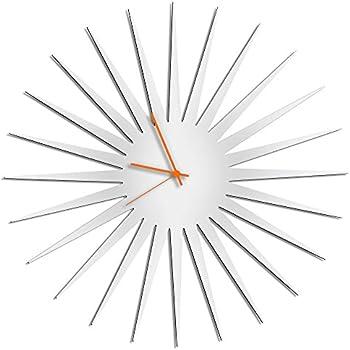 Amazon Com Sunburst Clock Mcm Starburst Clock White