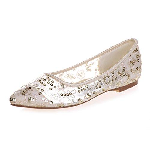 Wedding Ballet Gold Sequins Monie Glacial Handmade Women's Flats 6HwIZTqzx