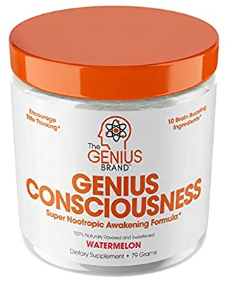 Genius Consciousness - Super Nootropic Brain Booster Supplement - Enhance Focus, Boost Concentration & Improve Memory | Mind Enhancement with Alpha GPC & Lions Mane Mushroom for Neuro Energy & IQ