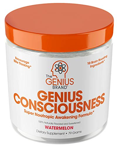 Genius Consciousness - Super Nootropic Brain Booster Supplement - Enhance Focus, Boost Concentration & Improve Memory | Mind Enhancement with Alpha GPC & Lions Mane Mushroom for Neuro Energy & IQ (10 Best Pre Workout Supplements)