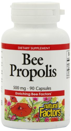 Natural Factors Bee Propolis Extract, 500mg Capsules, 90-Count