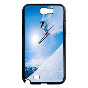 Skiing Samsung Galaxy N2 7100 Cell Phone Case Black Xfdsz