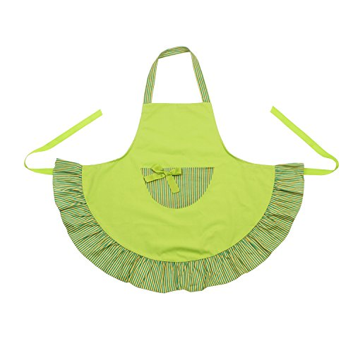 G2Plus Hot Lovely Funny Aprons Fashionable Women Cooking Baking or Cupcake Shop Apron with One Pocket Great Gift For Wife Daughters Ladies (Yellow & Green Color Apron)