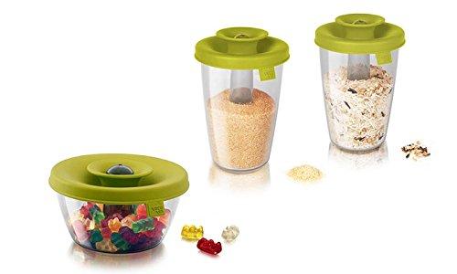 Vacu Vin Popsome Food Storage Container & Dispenser 3pc Set - Green