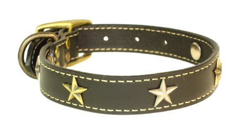 "Heirloom Old Glory Leather Collar - Black (18"")"