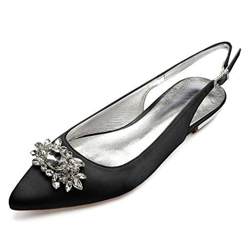 Mode Noir De Chaussures Satin De Taille Boucle Mariage Soirée Ivoire Femmes 36 La 43 Pompes Eleoulck Z1qTfPTx