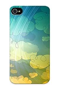 [feEqIPR599aqsAu]premium Phone Case For Iphone 4/4s/ Colorful Clouds Tpu Case Cover