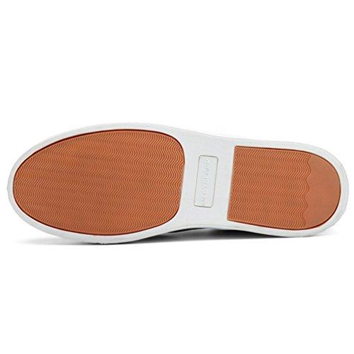 On Barca Top Uomo Qianliuk Scarpe Scarpe Slip Uomini Low Grigio Casual Canvas Flats qvXAwxBva