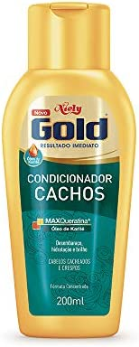 Gold Condicionador Cachos, 200 ml, Niely, Niely