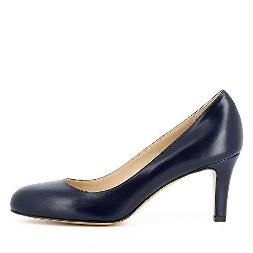 Evita Shoes Bianca Escarpins Femme Cuir Lisse Bleu Foncé eMHDI
