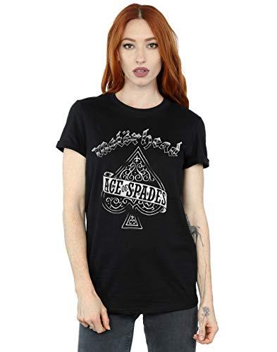 Motorhead Women's Ace of Spades Boyfriend Fit T-Shirt Black XX-Large