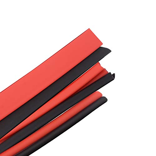 3:1 4.9ft Heat Shrink Tubing Adhesive Lined Shrink Wrap Tube, Black&Red 6 Pack Dia. 3/16