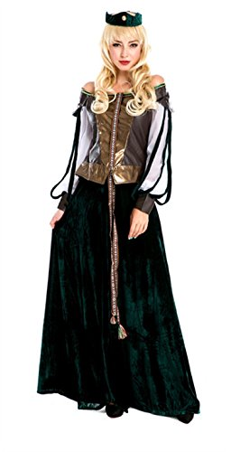 Women's European Court Scottish Host Adult Costume Green