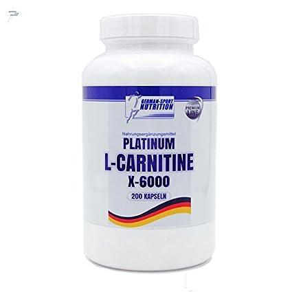 l-carnitina cápsulas - PLATINUM L-Carnitine X-6000 200 Caps