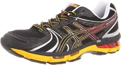 ASICS Men's Kayano 18 Running Shoe,Onyx/Black/Blazing Yellow,9.5 M US