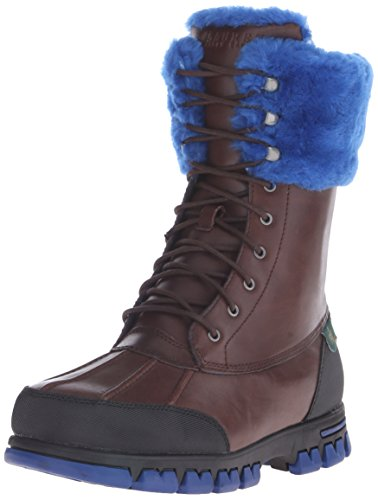 Lauren Ralph Lauren Womens Quinta Boot Brown / Royal