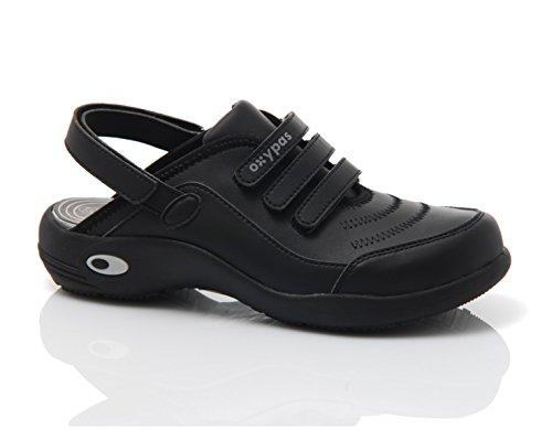 Ultralite Oxypas progettato PLS scarpe medici leggero in Nero per Medical professionisti i lavabili Black Cleo E5aw4q