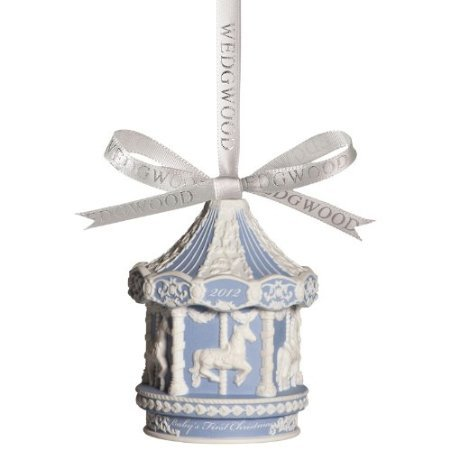 Wedgwood 2012 Holiday Ornaments Annual Baby's 1st Christmas Blue Carousel ()