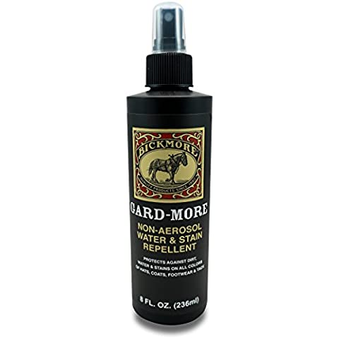 Bickmore Gard-More Water & Stain Repellent 8oz- Leather Protector and Suede Protector Waterproofing Spray Guard For Boots, Shoes, Clothing, Hats, Jackets & (Rain Repellant Spray)