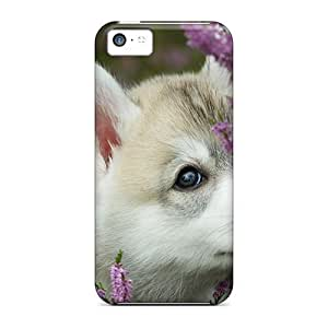 LastMemory Awesome Case Cover Compatible With Iphone 5c - Akita Puppy