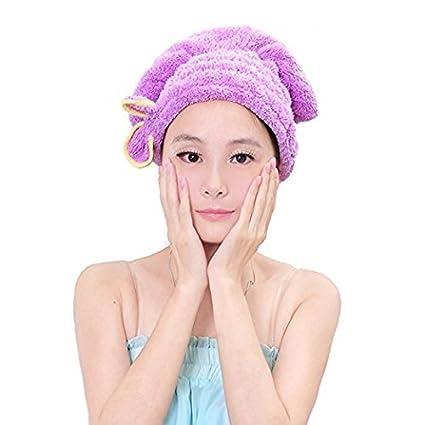 1 toalla de secado para el pelo, para mujeres y niñas, pelo largo,