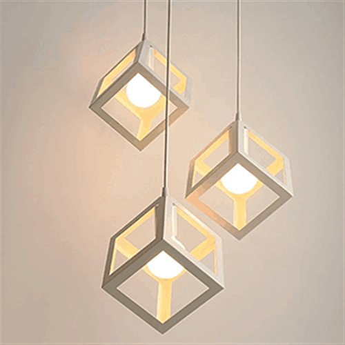 Light Geometric Three - Elitlife Geometric Modern Hanging Multi Pendant Light with 3 Lights 3x5W Bulb Ceiling Light Fixture Chandelier Decoration for Restaurant,Kitchen,Living Room,Cafe, Hotel (Warm White)