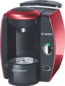Bosch TAS4013 - Cafetera multibebidas, color negro y rojo: Amazon ...