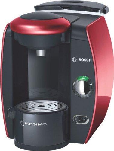 Bosch TAS4013 - Cafetera multibebidas, color negro y rojo
