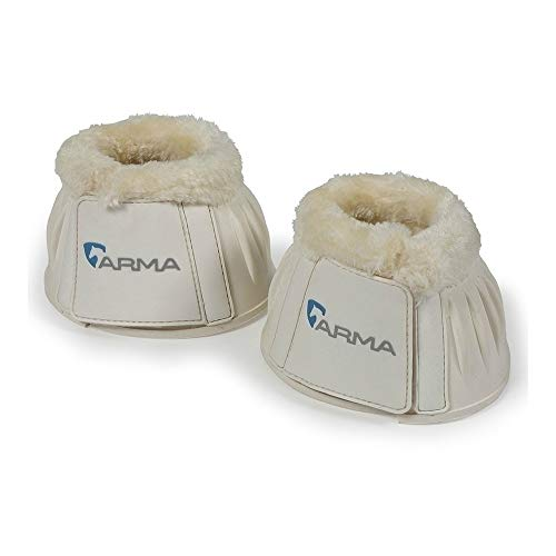 (Shires ARMA Fleece Trim Bell Boots Full White)