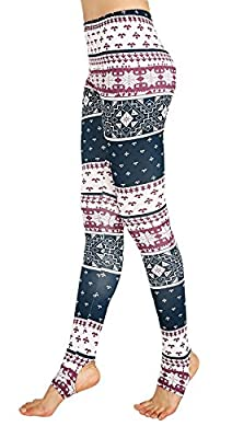 Alaroo Women's Tribal Christmas Stirrup Legging Pants