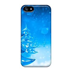 Anti-scratch And Shatterproof Christmas Trees Phone Case For Iphone 5/5s/ High Quality Tpu Case