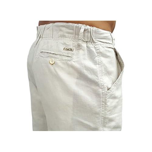 Short Fin men's drawstring linen pants with elastic waist chic ...