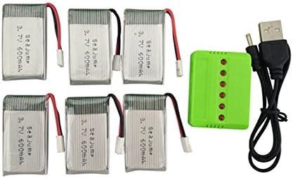 Opinión sobre Faironly - 6 baterías de Litio de 3,7 V 600 mAh con 1 Cargador para cuadricóptero de Repuesto X708 X708W U45 U45W U42 U42W